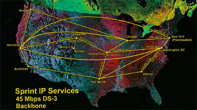 Sprint TCI Fiber Optic Network Map